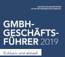 """Beitrag von Dr. Rolf Stagat im E-Book """"GmbH-Geschäftsführer 2019"""